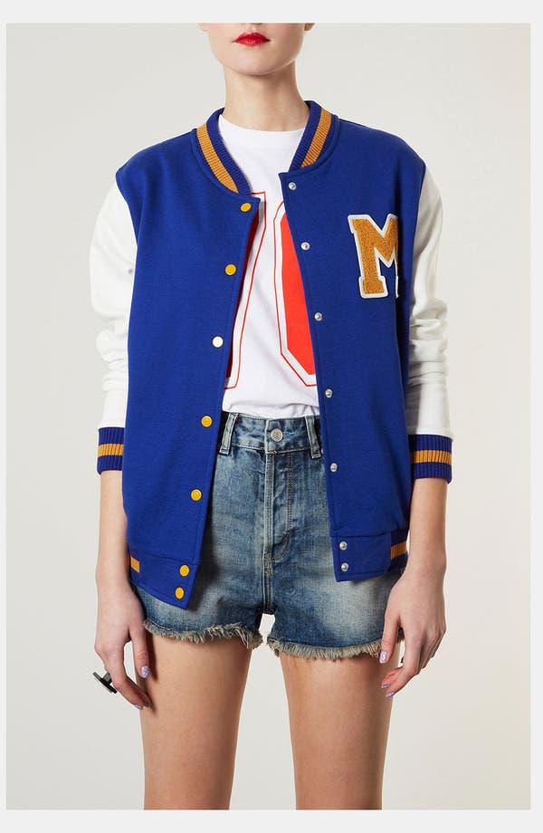Main Image - Topshop Jersey Varsity Jacket