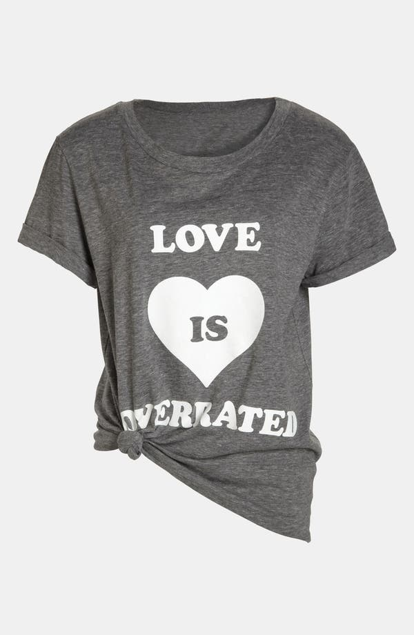 Alternate Image 1 Selected - Local Celebrity 'Love is Overrated' Screenprint Tee