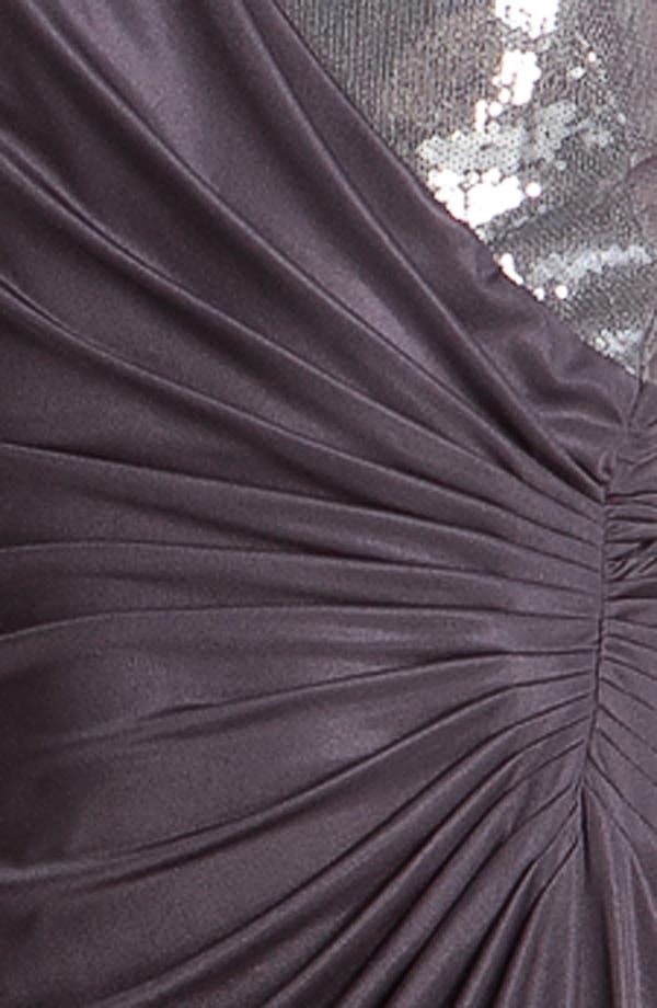 Alternate Image 3  - Adrianna Papell Sequin Jersey Drape Dress (Petite)
