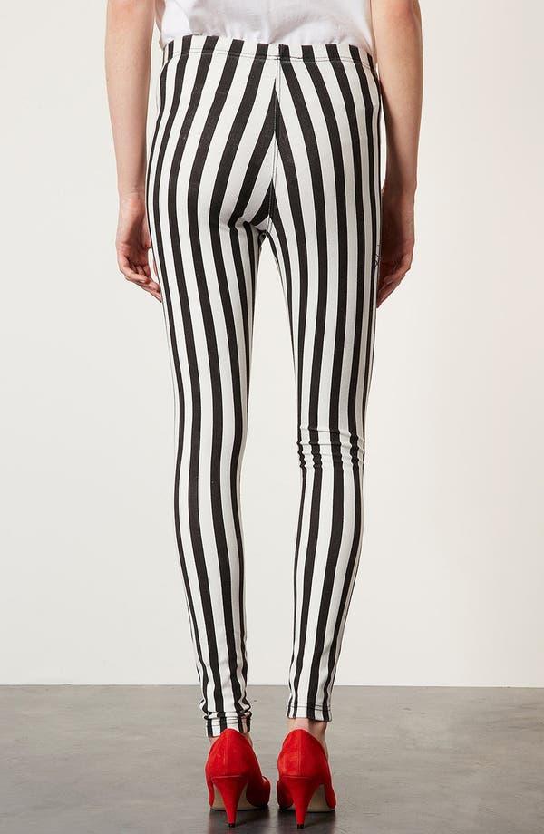 Alternate Image 3  - Topshop Mod Stripe Denim Leggings