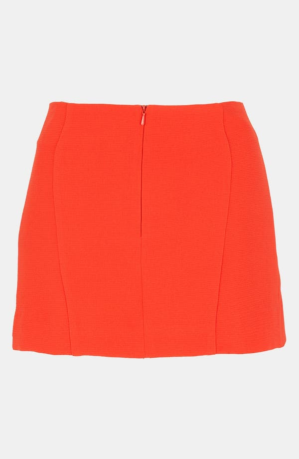 Alternate Image 2  - Topshop Origami Pleat Miniskirt
