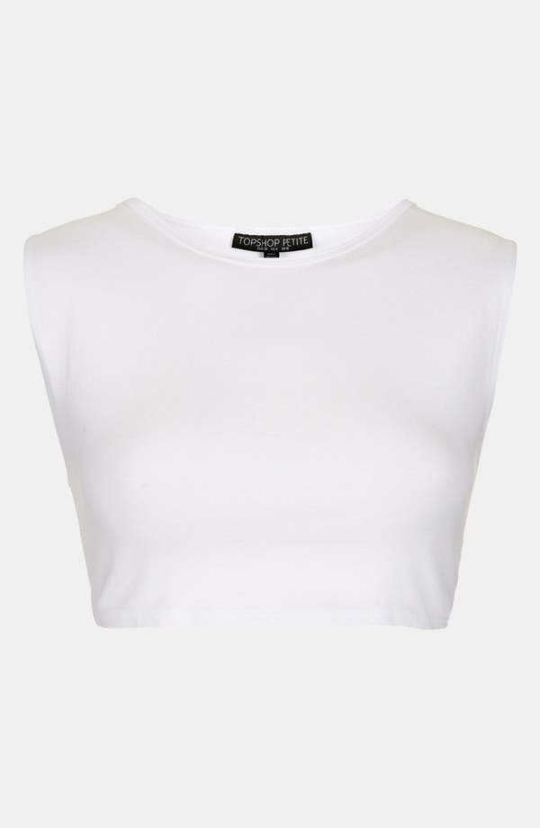 Alternate Image 1 Selected - Topshop Cap Sleeve Crop Tee (Petite)