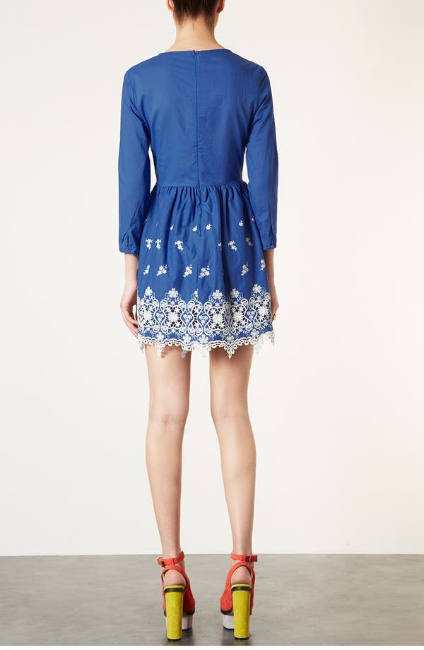 Alternate Image 2  - Topshop Embroidered Dress