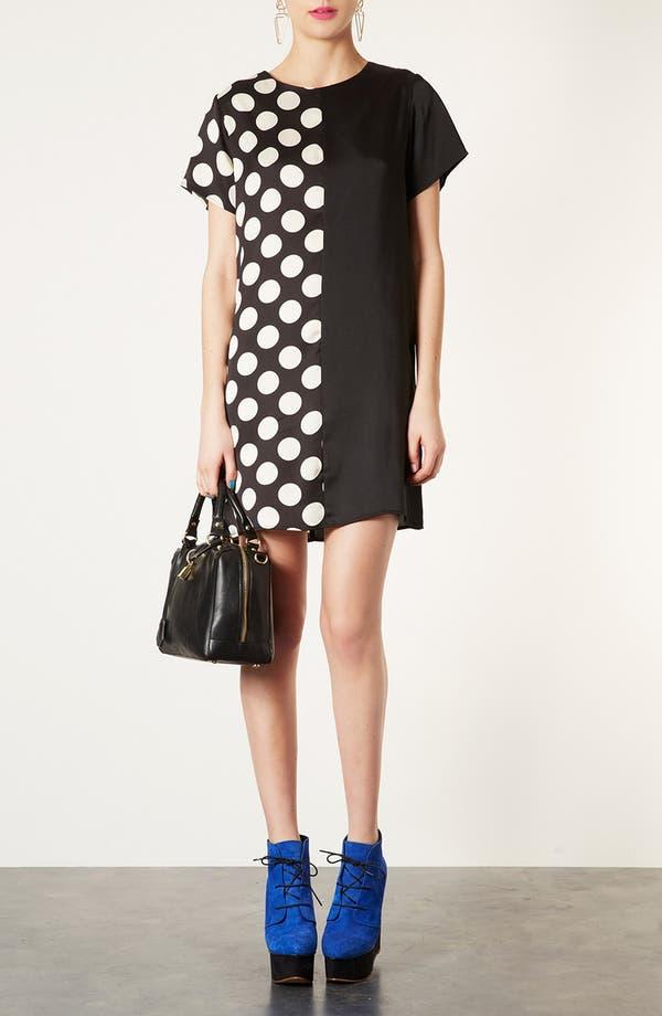 Main Image - Topshop Spot Mix Tunic Dress