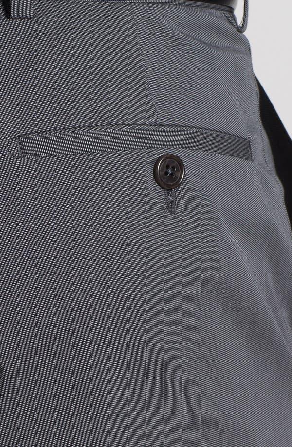 Alternate Image 4  - Armani Collezioni Stretch Flat Front Trousers
