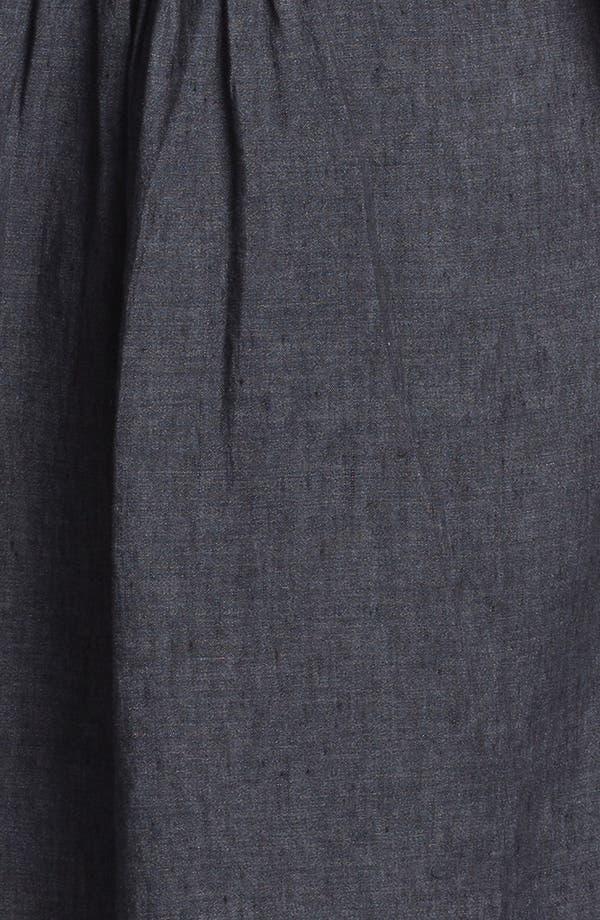 Alternate Image 4  - Eileen Fisher High/Low Linen Shirtdress
