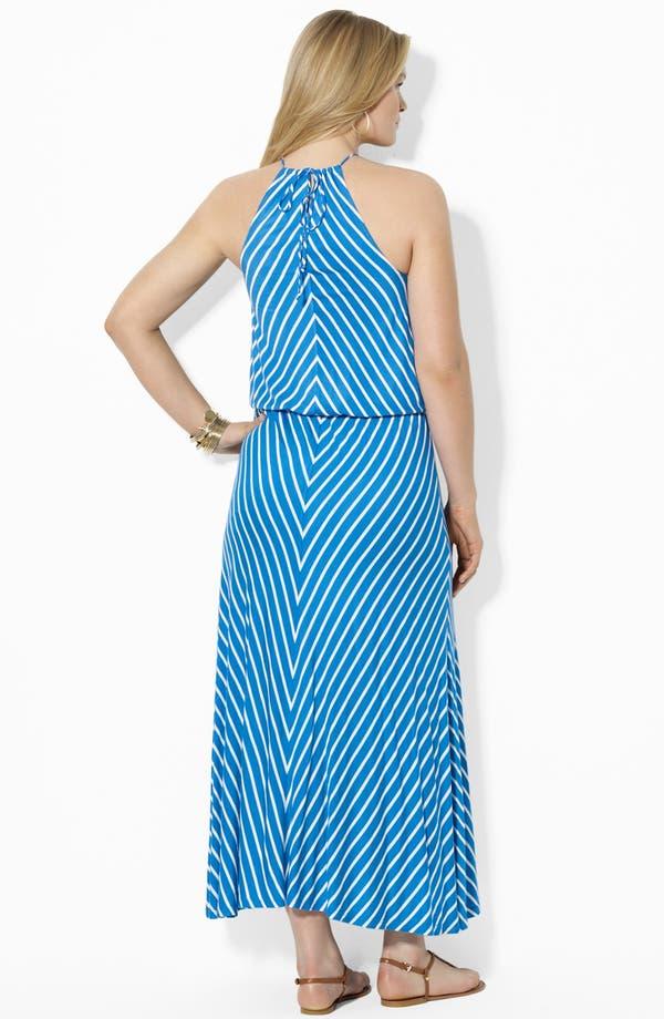Alternate Image 2  - Lauren Ralph Lauren Blouson Maxi Dress (Plus Size)