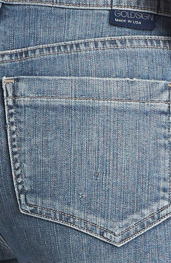 Alternate Image 3  - Goldsign 'Jenny' High Waist Crop Skinny Jeans (Nadya)