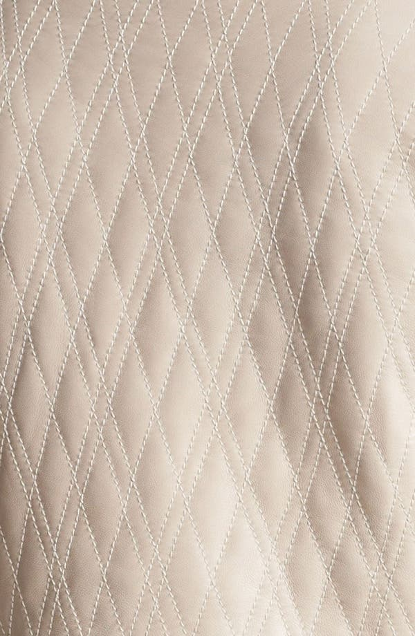 Alternate Image 3  - Hinge® Quilted Leather Jacket (Online Only)