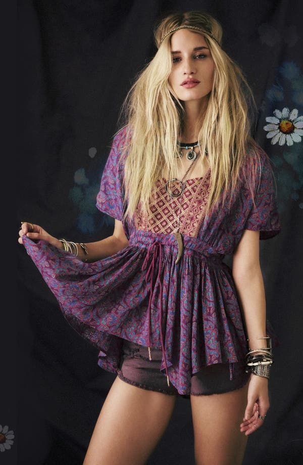 Alternate Image 1 Selected - Free People Top & Cutoff Cargo Shorts