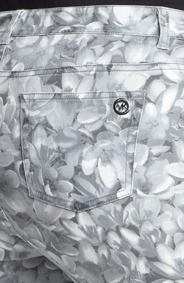Alternate Image 3  - MICHAEL Michael Kors 'Wildflower' Print Skinny Jeans (Plus)