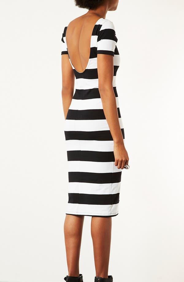 Alternate Image 3  - Topshop 'Big Stripe '50s' Midi Dress