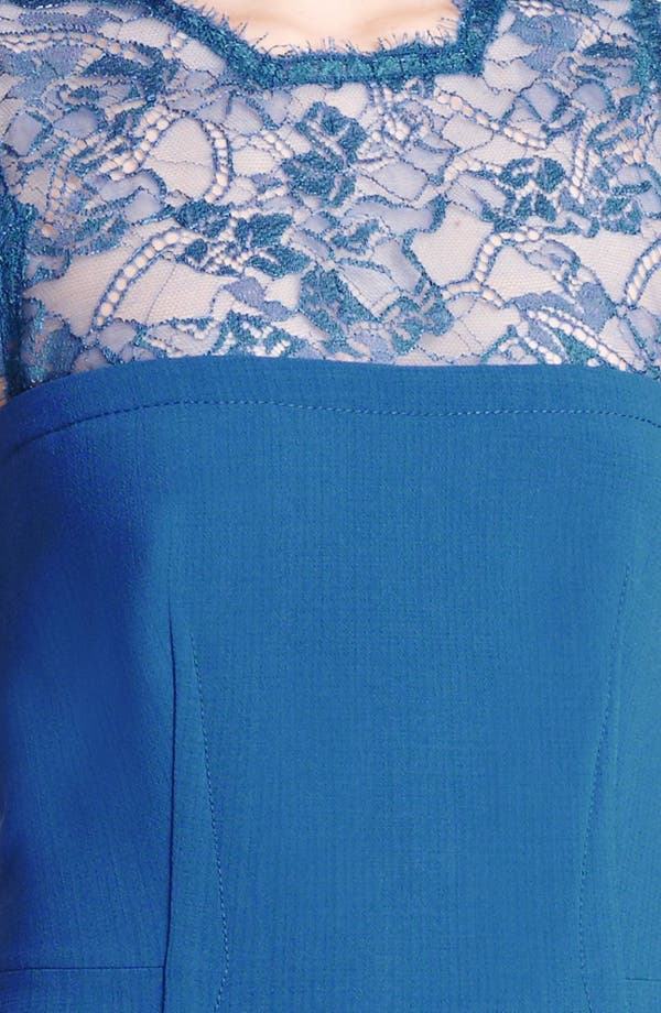 Alternate Image 3  - Emilio Pucci Lace Bodice Stretch Wool Dress