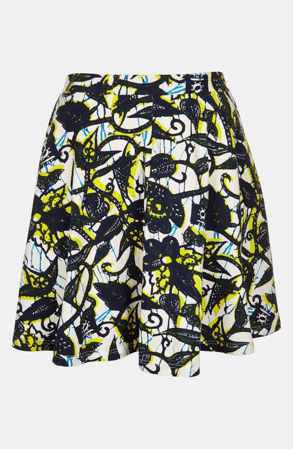Alternate Image 3  - Topshop Foliage Print Skater Skirt