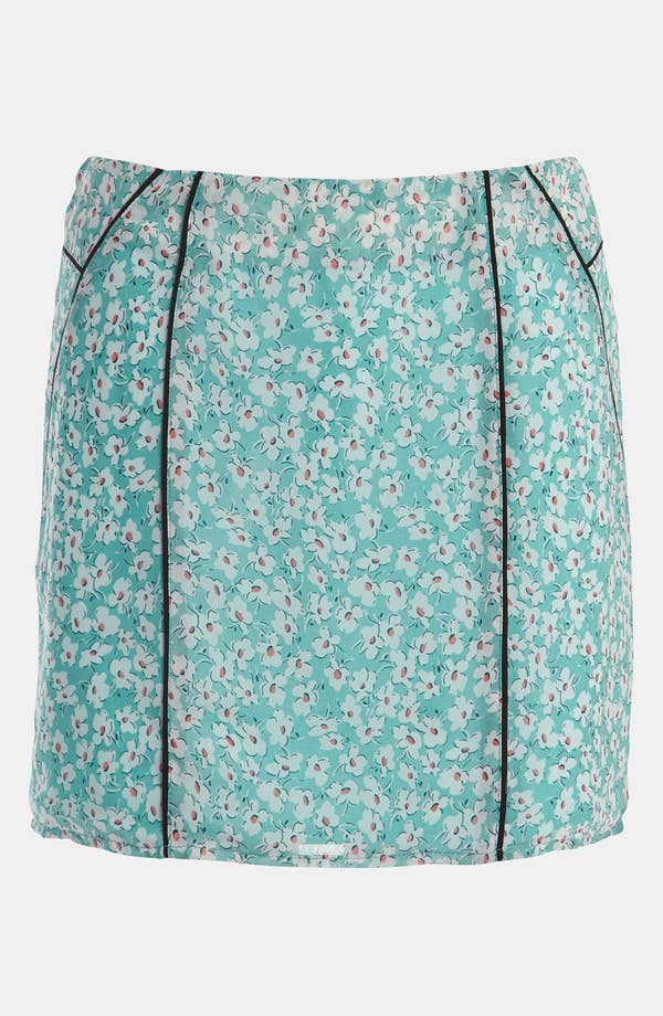 Alternate Image 1 Selected - Lucca Couture Piped Floral Print Skirt