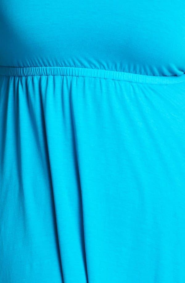 Alternate Image 3  - Three Dots Layered Skirt Sundress (Plus Size)