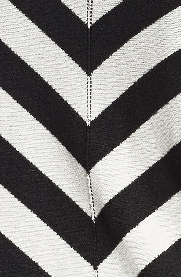 Alternate Image 3  - Foxcroft Chevron Stripe Cardigan (Plus Size) (Online Only)