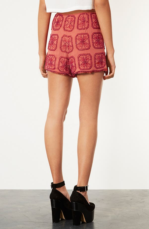 Alternate Image 2  - Topshop Beaded Shorts