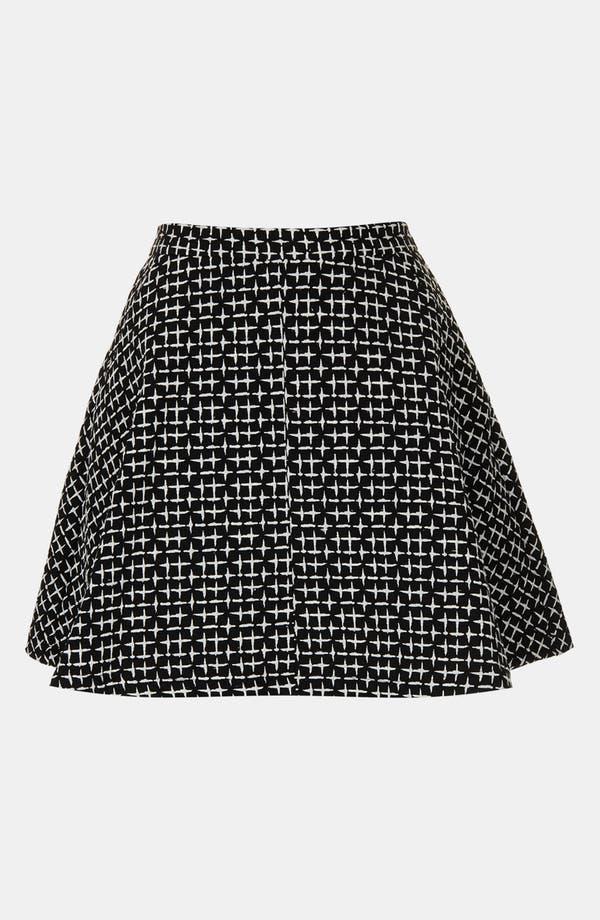 Alternate Image 4  - Topshop Cross Stitch Print Skirt