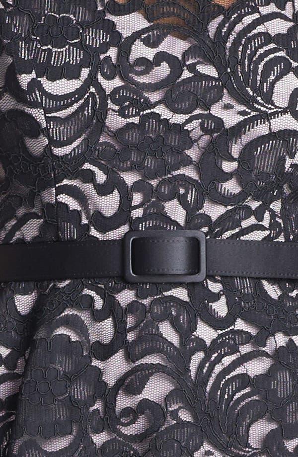 Alternate Image 3  - Xscape Mixed Media Peplum Dress (Petite)