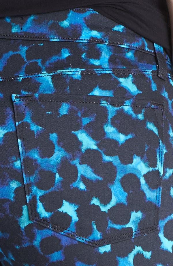 Alternate Image 3  - J Brand Print Super Skinny Jeans (Indigo Ink)