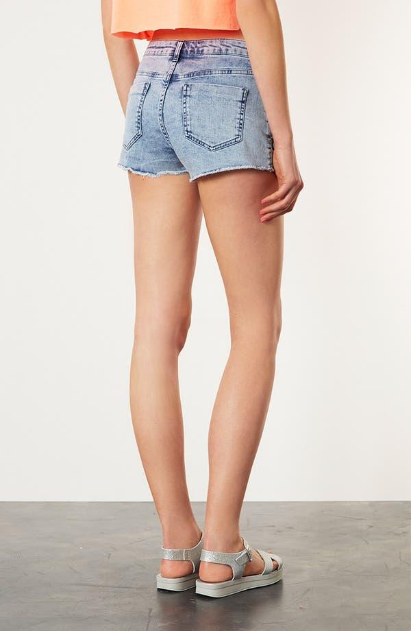 Alternate Image 2  - Topshop Moto Embroidered Denim Shorts