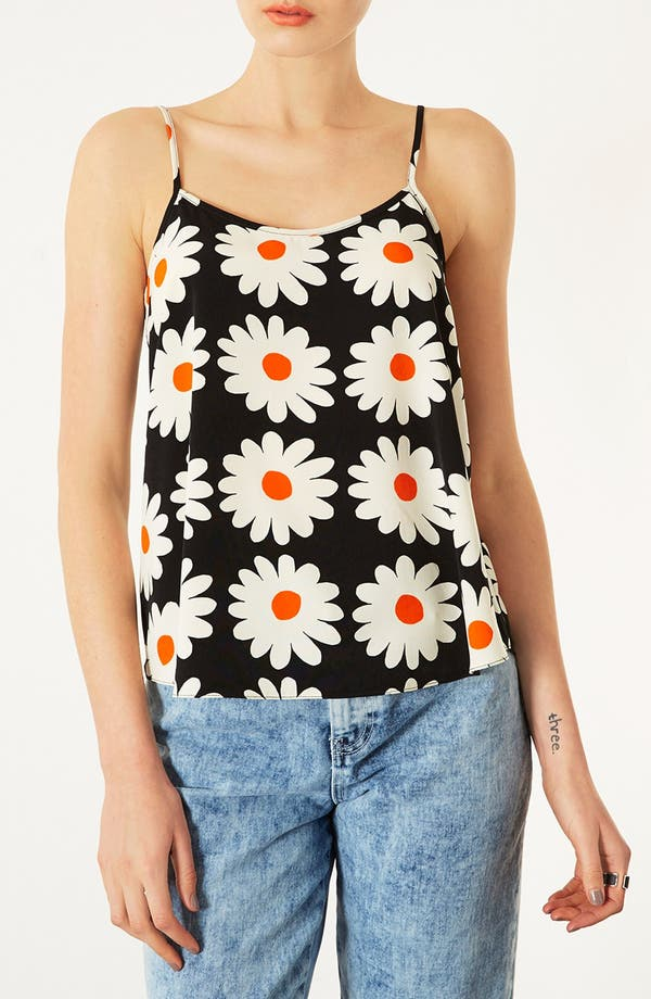 Alternate Image 1 Selected - Topshop Daisy Print Camisole