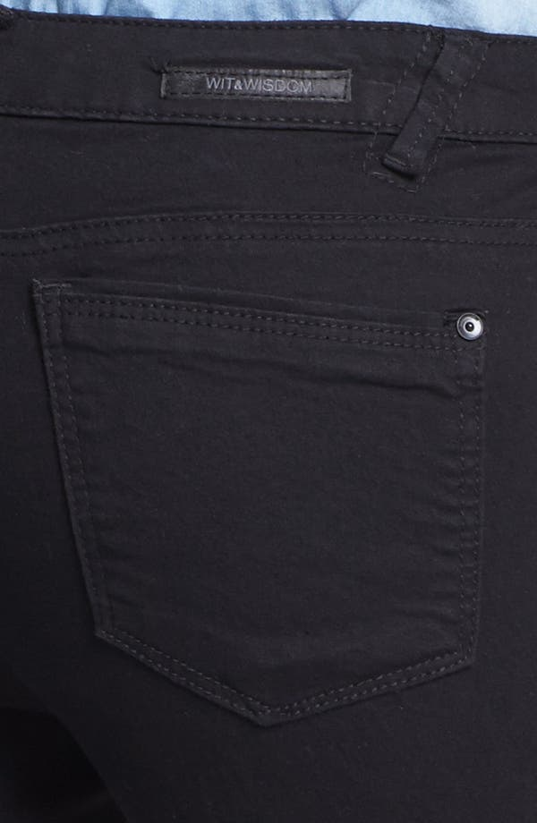 Alternate Image 3  - Wit & Wisdom Skinny Jeans (Black) (Nordstrom Exclusive)