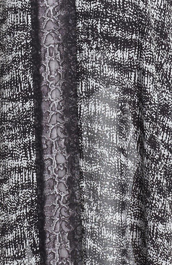 Alternate Image 3  - BCBGMAXAZRIA Mixed Print High/Low Chiffon Dress