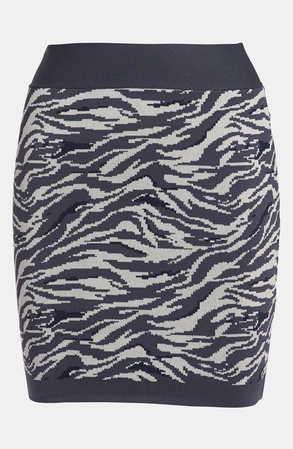 Alternate Image 1 Selected - Leith 'Punked' Animal Print Miniskirt