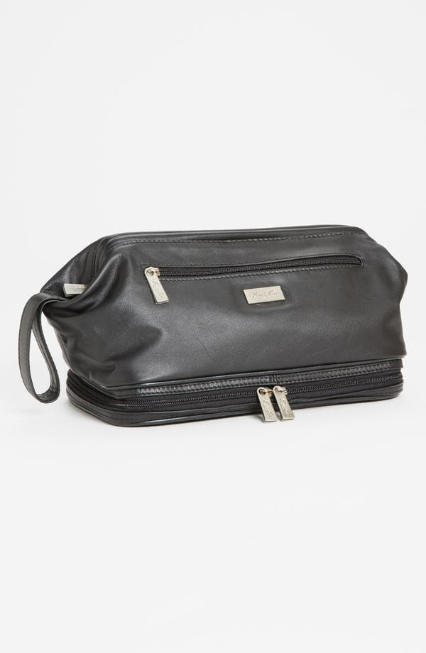 Alternate Image 1 Selected - Kenneth Cole New York Wide Mouth Leather Travel Kit