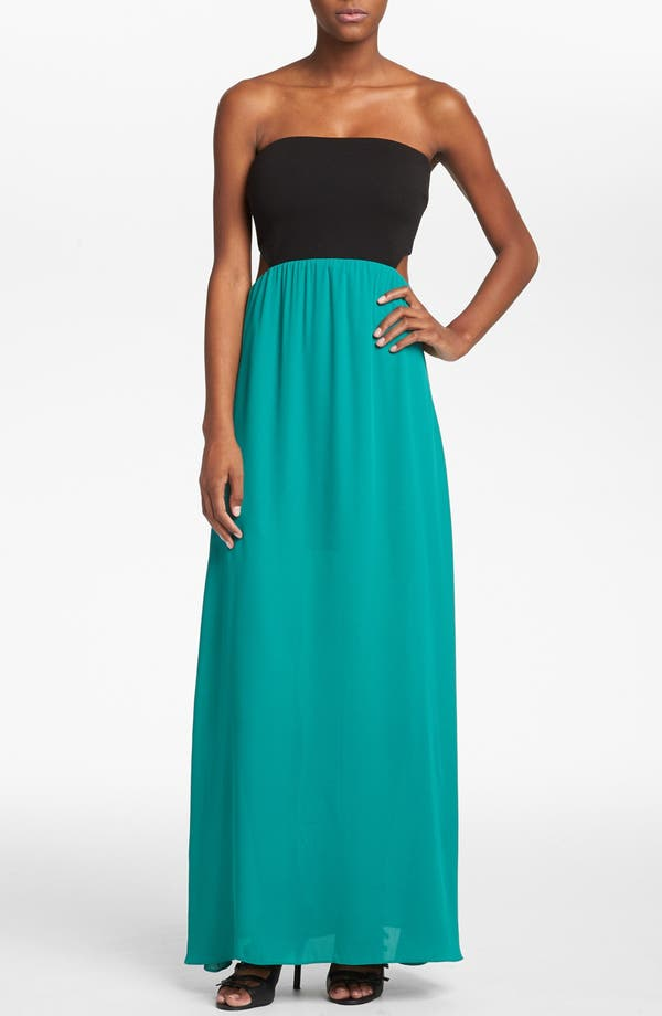 Alternate Image 1 Selected - Like Mynded Strapless Maxi Dress