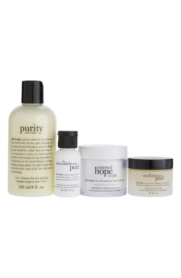 Main Image - philosophy 'cleanse, refine, renew' kit (Limited Edition) ($110 Value)