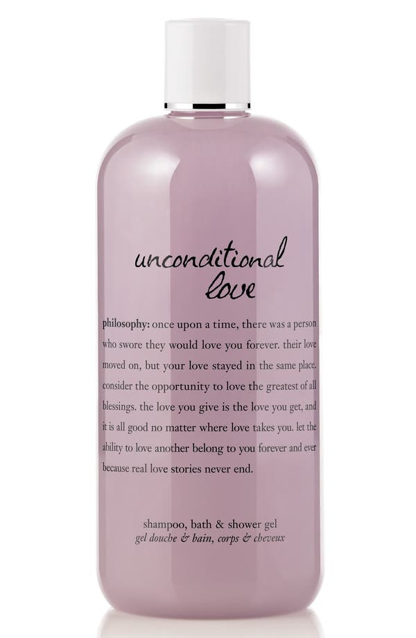 Alternate Image 1 Selected - philosophy 'unconditional love' perfumed shampoo, bath & shower gel