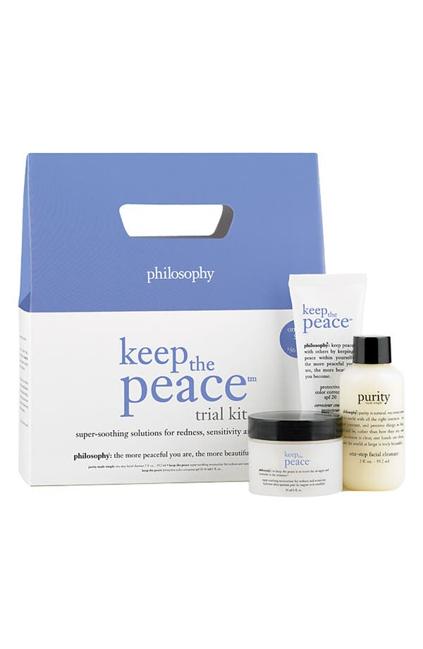 Alternate Image 1 Selected - philosophy 'keep the peace' trial kit ($58 value)