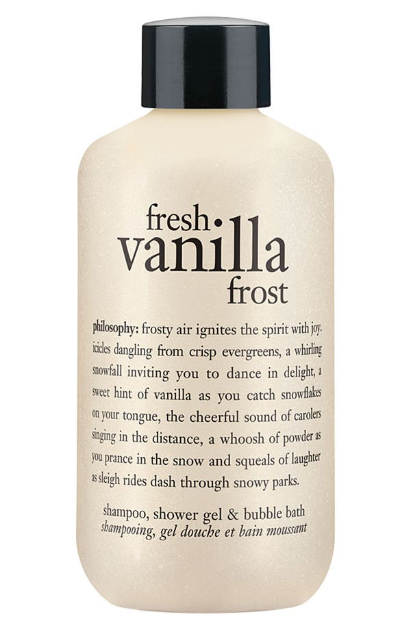 Main Image - philosophy 'fresh vanilla frost' shampoo, shower gel & bubble bath (Nordstrom Exclusive)