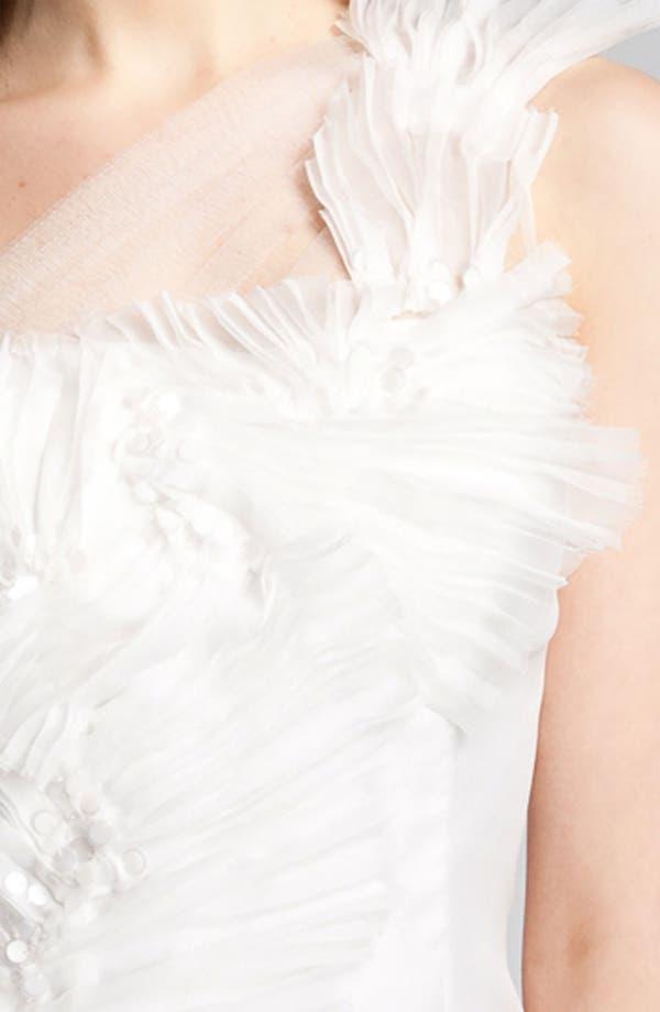Alternate Image 3  - Kathy Hilton One Shoulder Tulle Overlay Dress