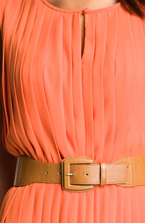 Alternate Image 3  - Maggy London Sleeveless Pleated Chiffon Dress