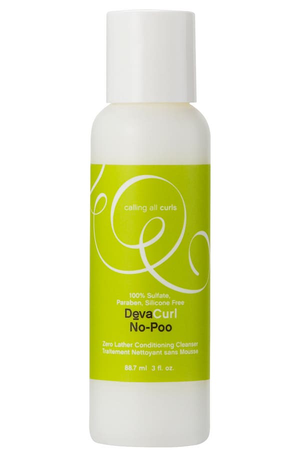 Alternate Image 1 Selected - DevaCurl 'No-Poo™ Zero Lather' Conditioning Cleanser (3 oz.)