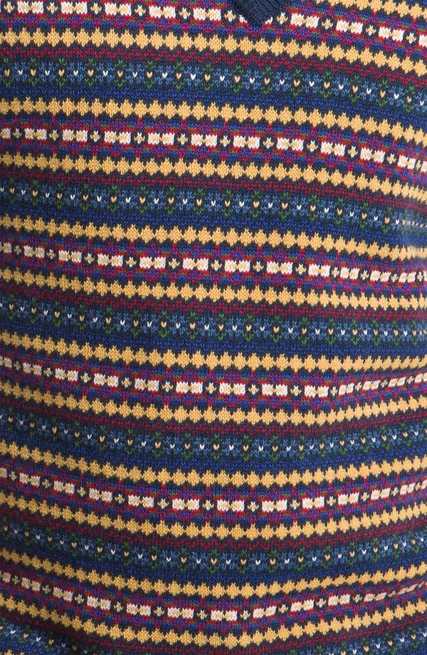 Alternate Image 3  - Brooks Brothers Fair Isle Cotton & Wool Vest