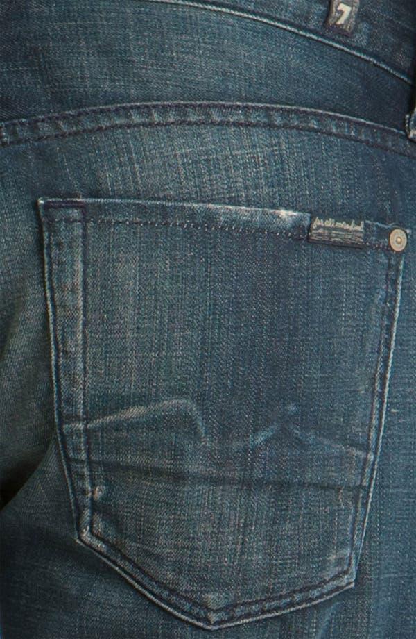 Alternate Image 4  - 7 For All Mankind® Standard Straight Leg Jeans (Cedar Street)