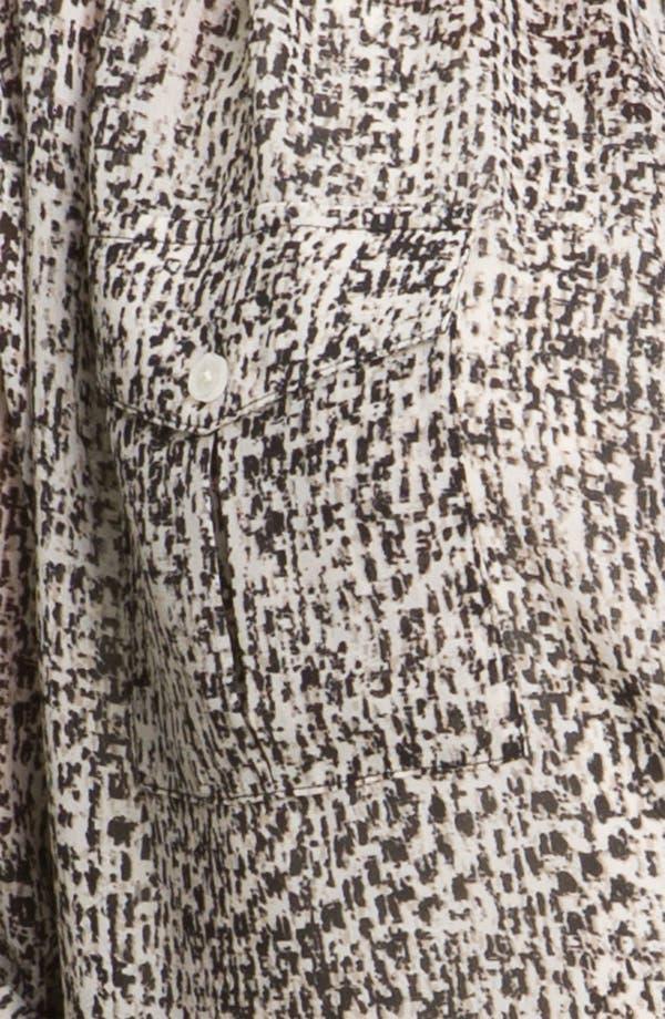 Alternate Image 3  - DKNYC Tweed Print Button Up Shirt (Plus)