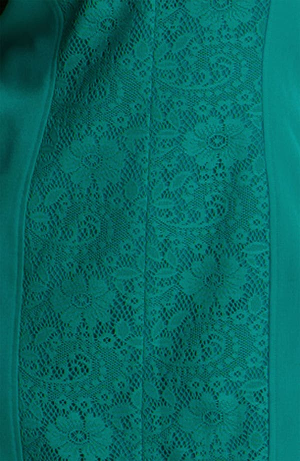 Alternate Image 3  - Adrianna Papell Crochet Detail Sheath Dress (Plus)