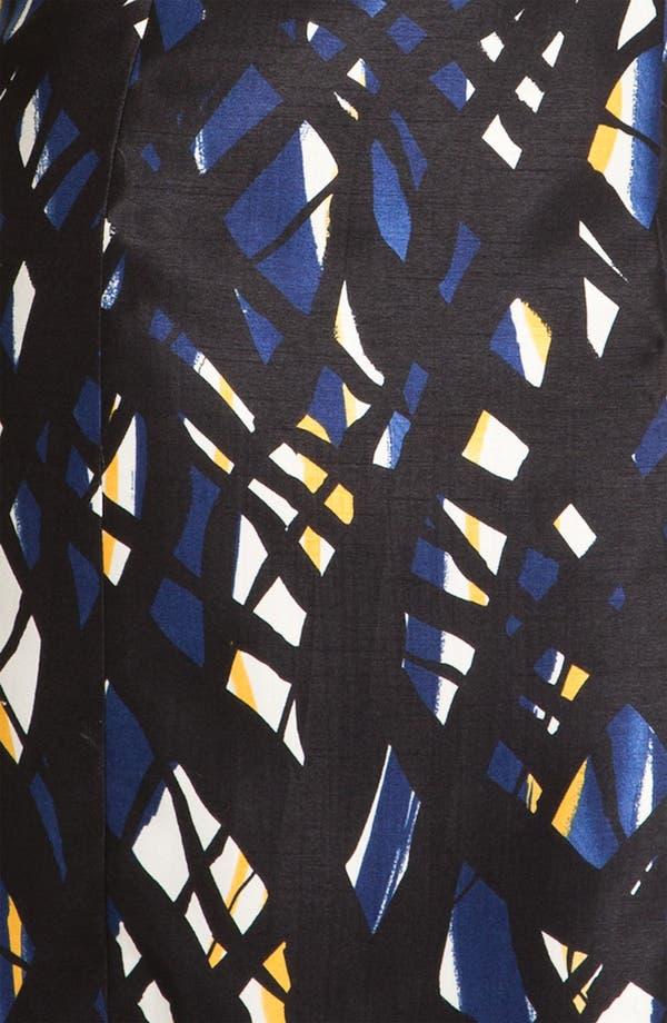 Alternate Image 3  - Tahari Print Pleated Yoke Sheath Dress