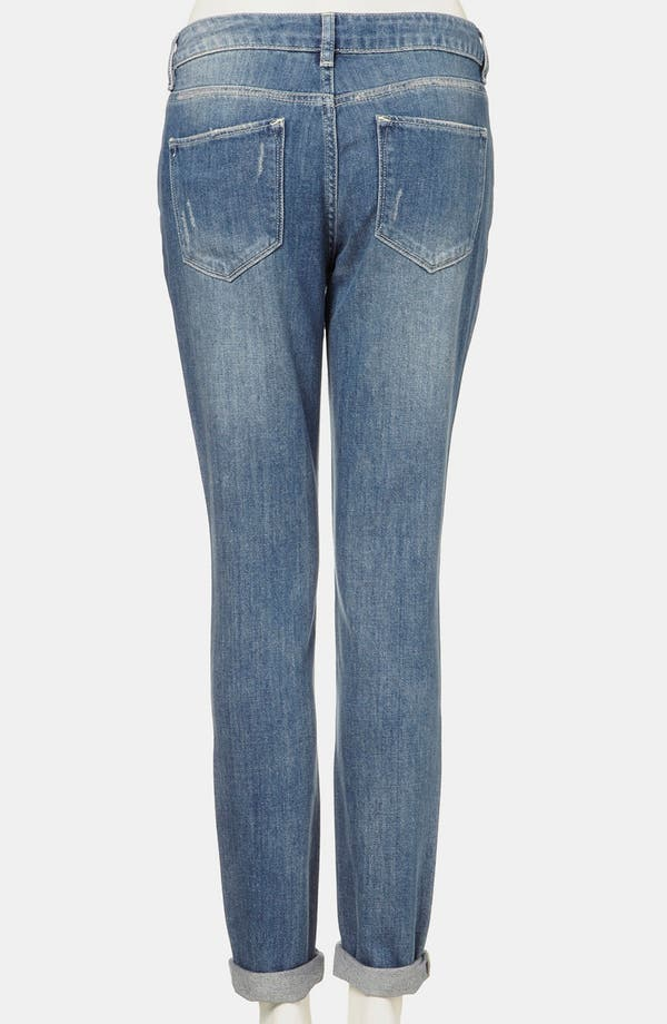 Alternate Image 2  - Topshop Moto 'Aiden' Distressed Skinny Jeans (Midstone)