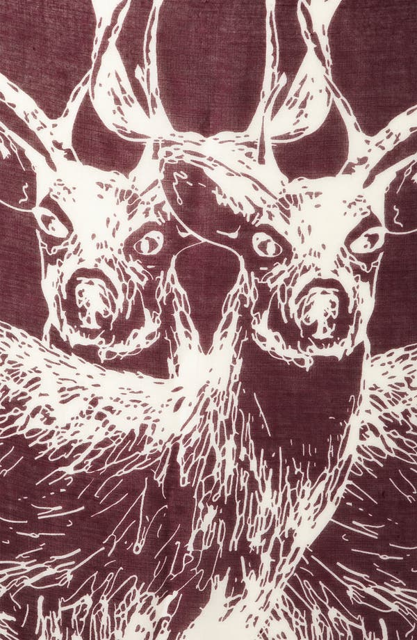 Alternate Image 2  - Topshop 'Double Stag' Scarf