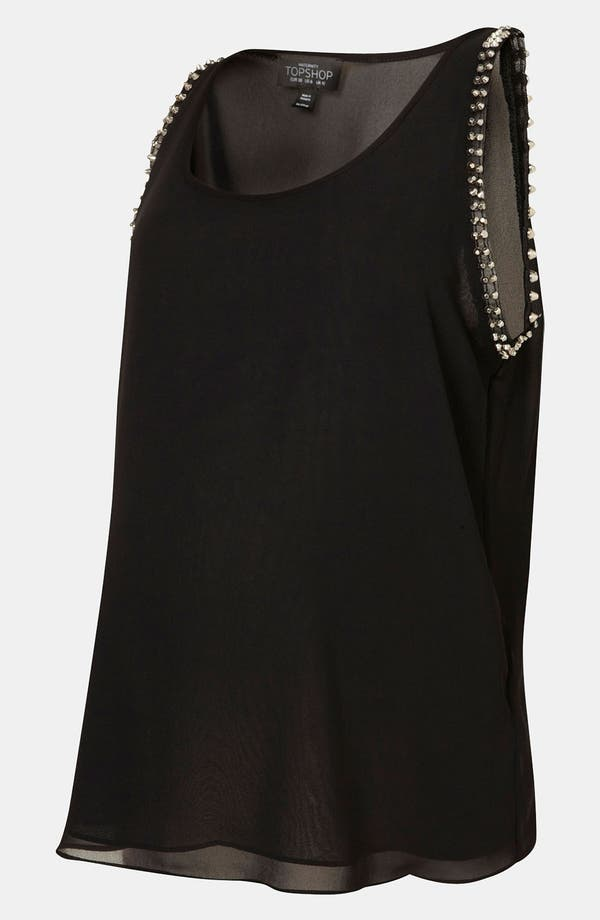 Alternate Image 2  - Topshop Stud Trim Maternity Tank