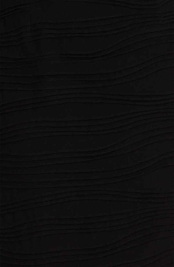 Alternate Image 3  - Adrianna Papell Faux Leather Trim Jersey Sheath Dress (Plus)