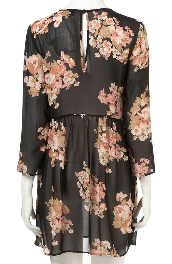 Alternate Image 2  - Topshop Floral Print Cutout Back Maternity Tunic
