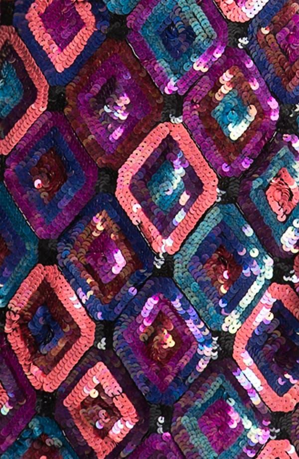 Alternate Image 3  - Trina Turk Sequin Diamond Shift Dress